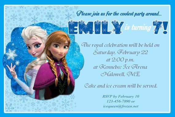 Get frozen birthday party invitations free printable invitation get frozen birthday party invitations stopboris Image collections