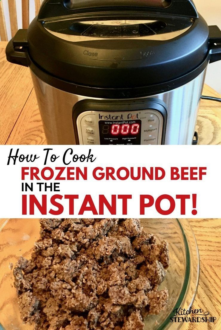 you can cook frozen meat in an electric pressure cooker
