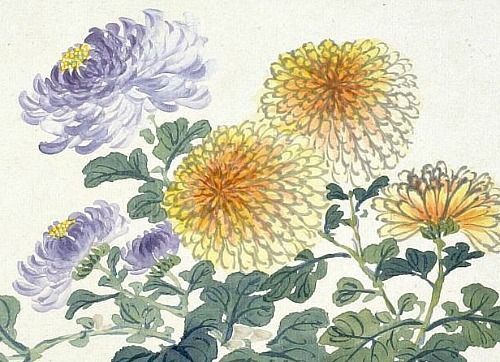 Zhang Xiong Chrysanthemums, detail 1859