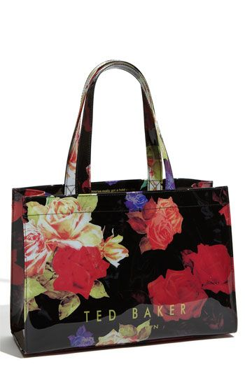7b4c3ceca70 Ted Baker bag, ...beautiful! I fell in love with this vibrant floral print  on black.