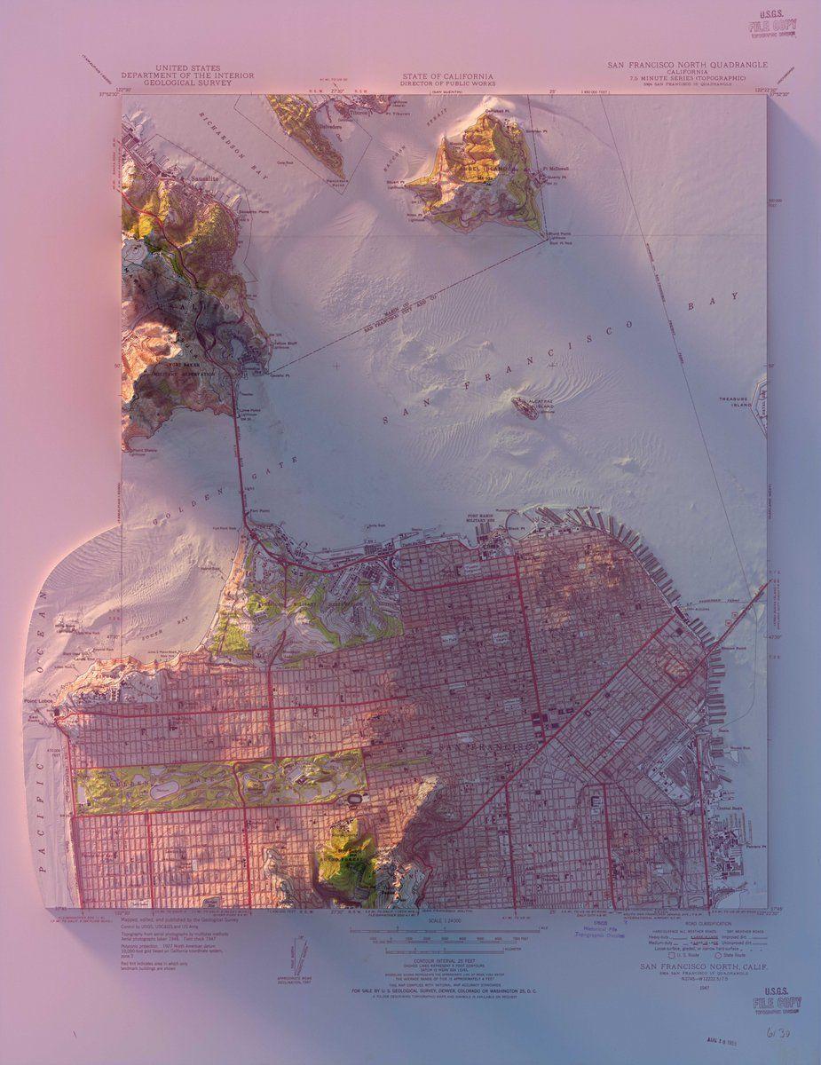 Scott Reinhard on Map artwork, Map painting, Map art