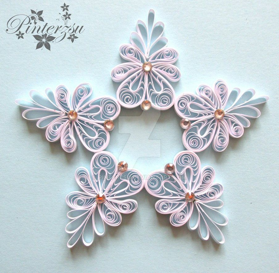 Quilled snoflake by pinterzsu diy no l pinterest for Deco quilling