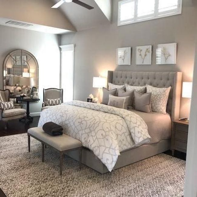 neutral beige/gray bedroom Future House in 2019