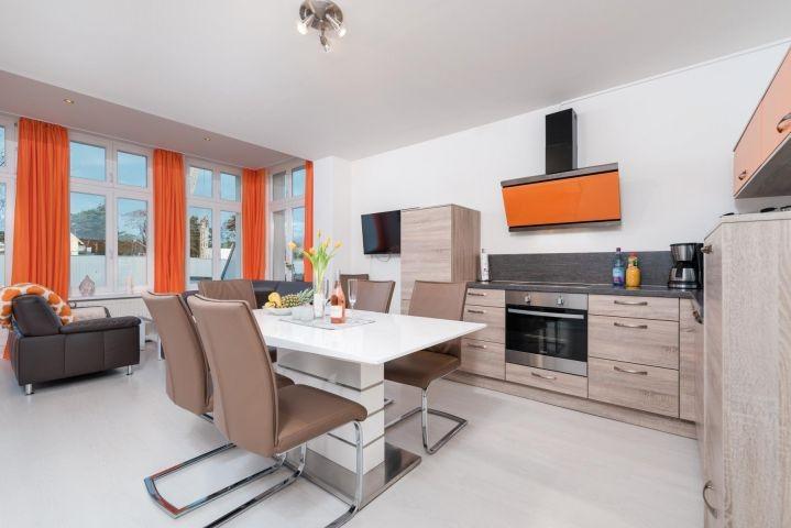 Villa Erika Wohnung 3 die offene Küche usedom Ahlbeck