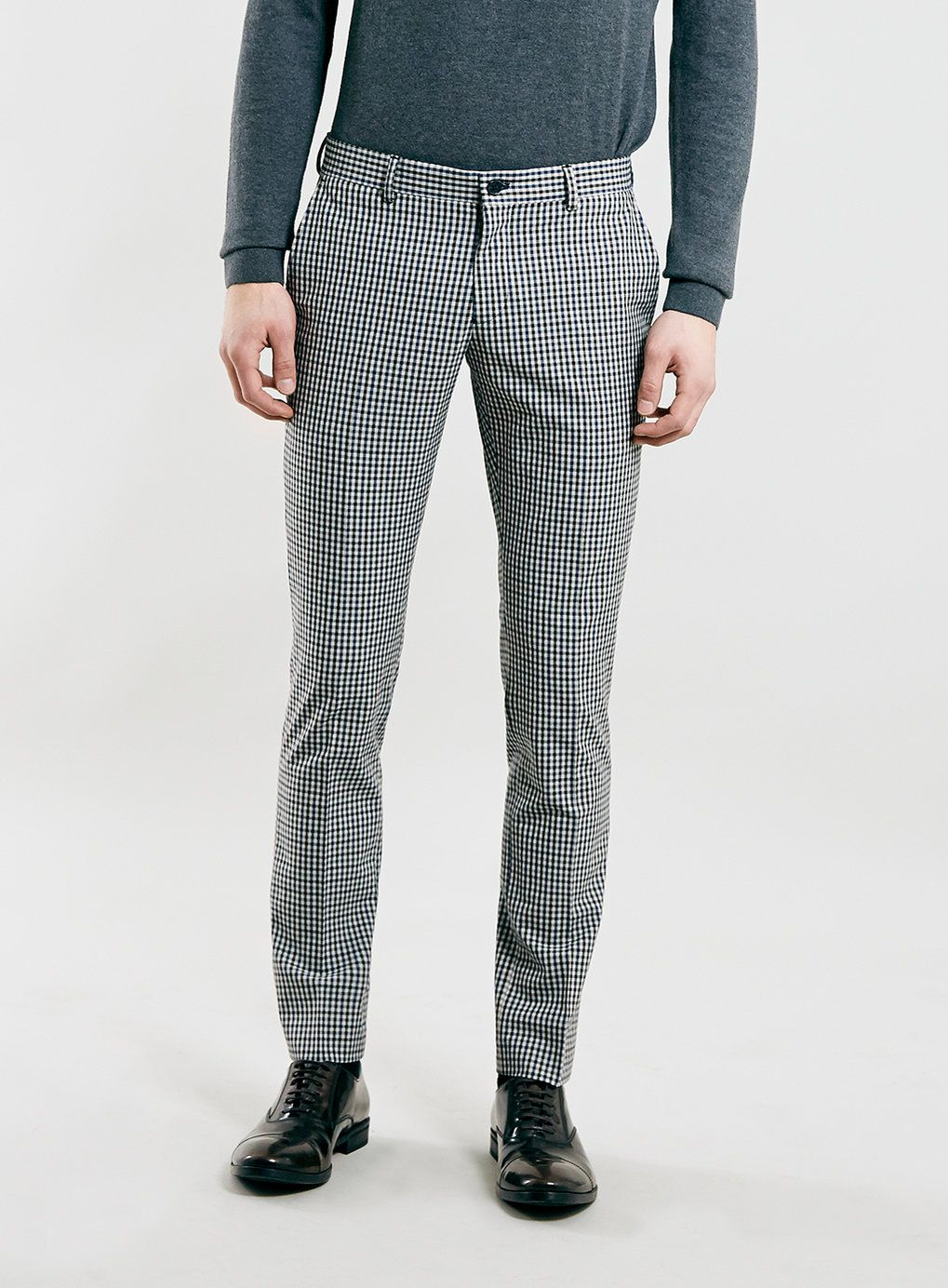Selected Homme Grey Skinny Fit Check Suit Trousers Check Suit Topman Slim Fit Trousers [ 1384 x 1019 Pixel ]