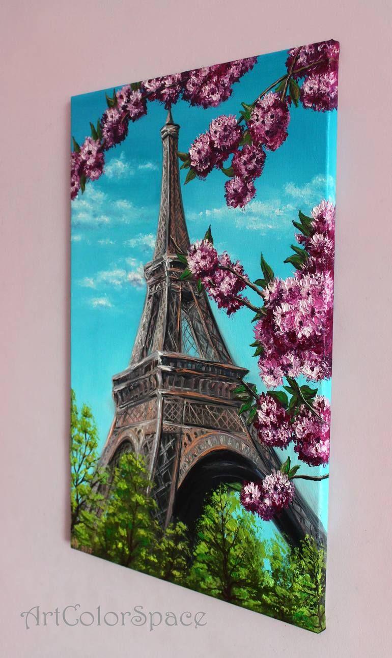 Eiffel Tower Painting Eiffel Tower Painting Flower Art Painting Painting Art Projects