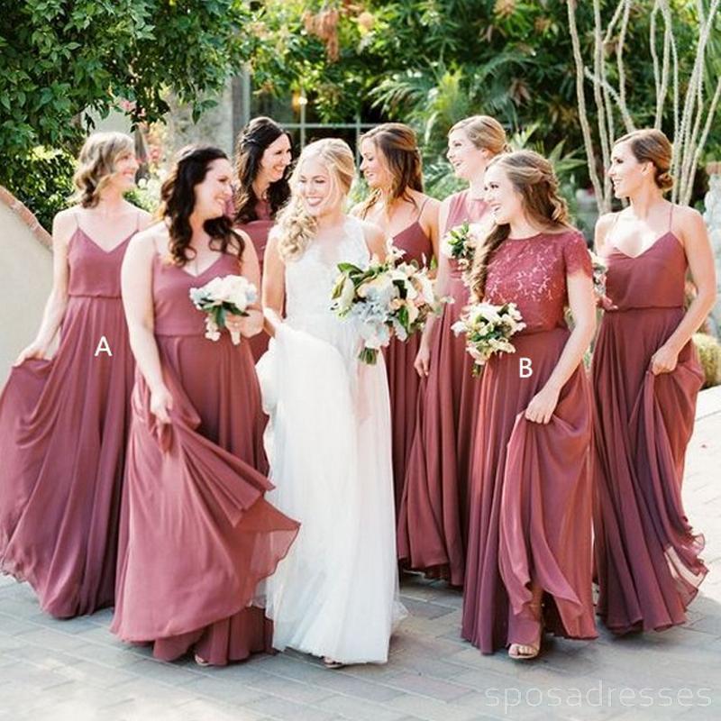Dark Dusty Rose Bridesmaid Dresses