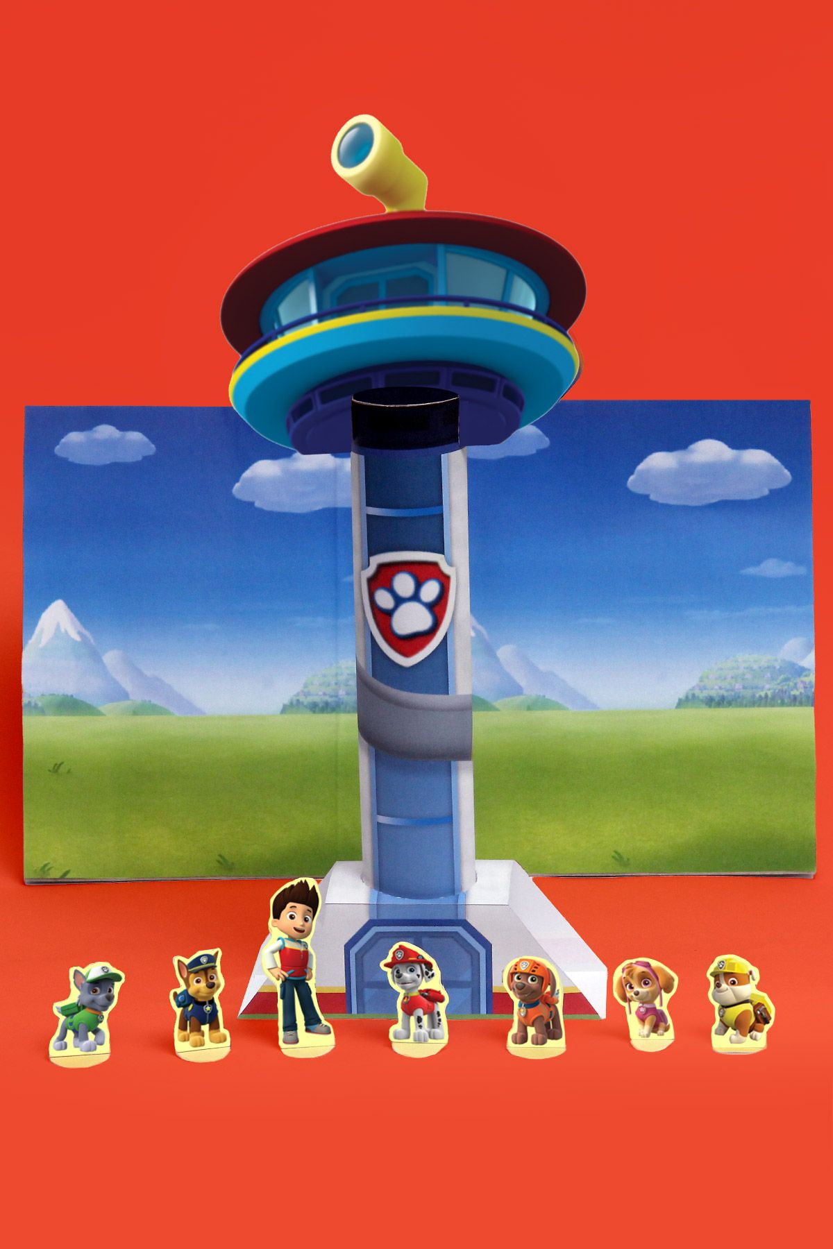 Paw Patrol Look Out Tower Theater Craft Paw Patrol Tower Paw