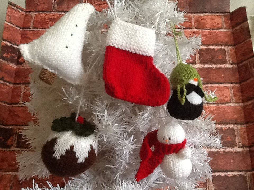 SALE! Christmas Decorations 5 pack x by CarriesCupboard on Etsy