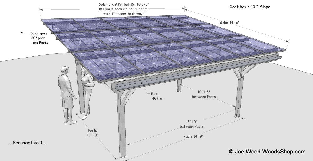 Solar Carport Timber Wood Paneles Solares Panel Terrazas