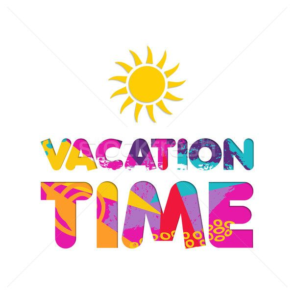 C Stock Quote Delectable Summer Vacation Color Cutout Text Quote Stock Photo C Cienpies