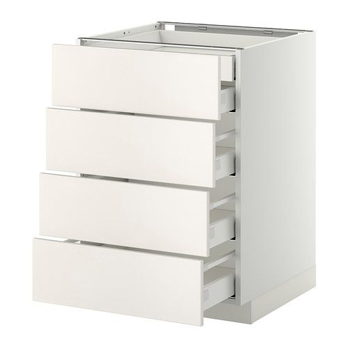 Metod maximera mobile 4front 2cassetti bassi 3medi bianco veddinge bianco 60x60 cm ikea - Mobiletti ikea cucina ...