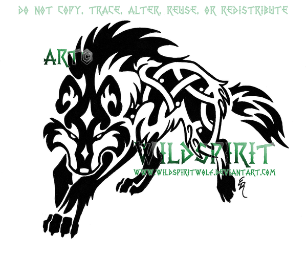 Fenrir Knotwork Wolf Tattoo By Wildspiritwolf On Deviantart Celtic Wolf Tattoo Wolf Tattoo Design Wolf Tattoo