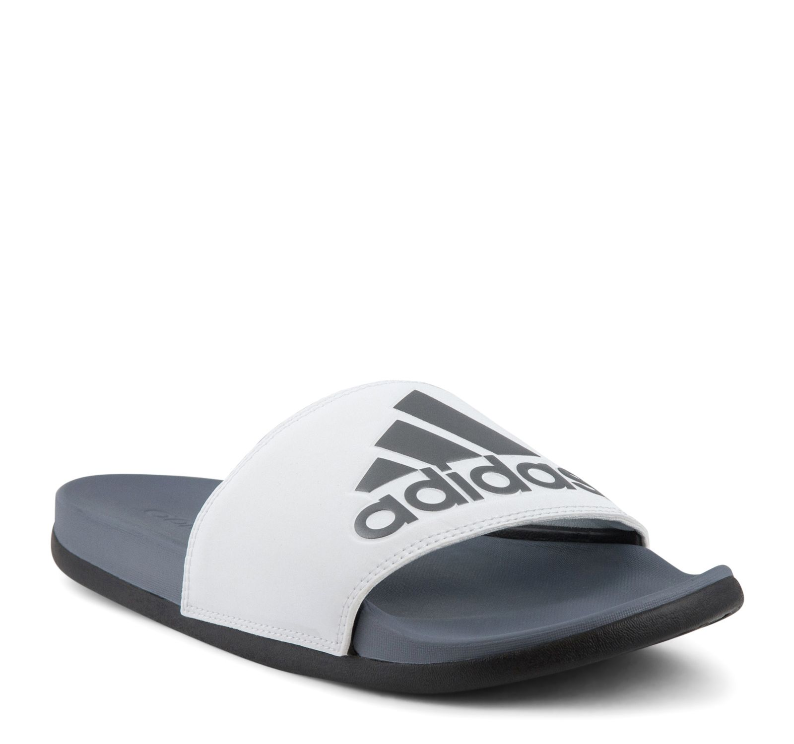 34faa48ea59e Adidas Adilette Cloudfoam Plus Logo Slide AC8412 Men s - Steel White ...