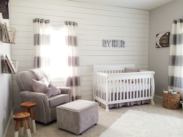 Image Result For Grey And Shiplap Nursery