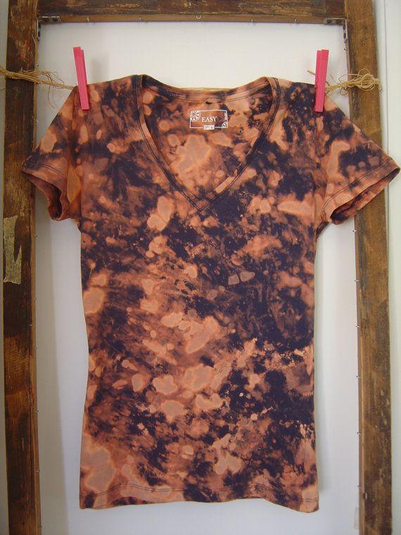 Reverse Tie Dye T-Shirt cotone elasticizzato. di AdeleDaniele