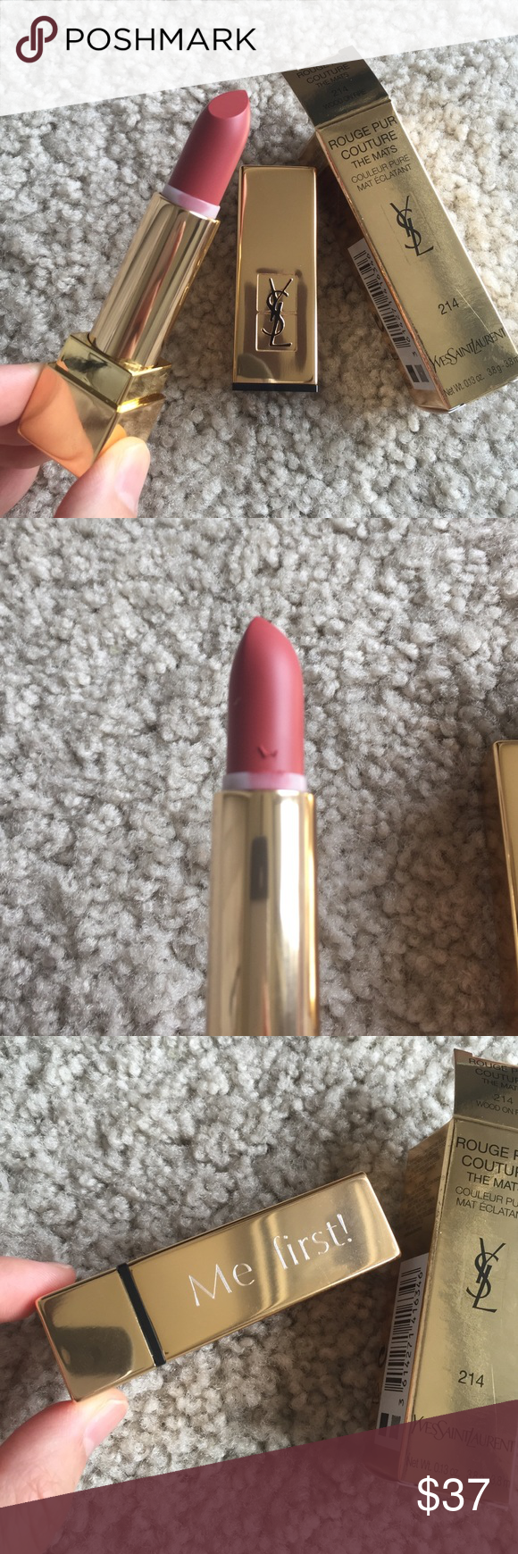 Ysl Rouge Pur Couture The Mats In 214 Wood On Fire Full Size New In Box Engraved Me First Authentic From Beauty Website Yves Saint Laurent Makeup Ysl Beauty