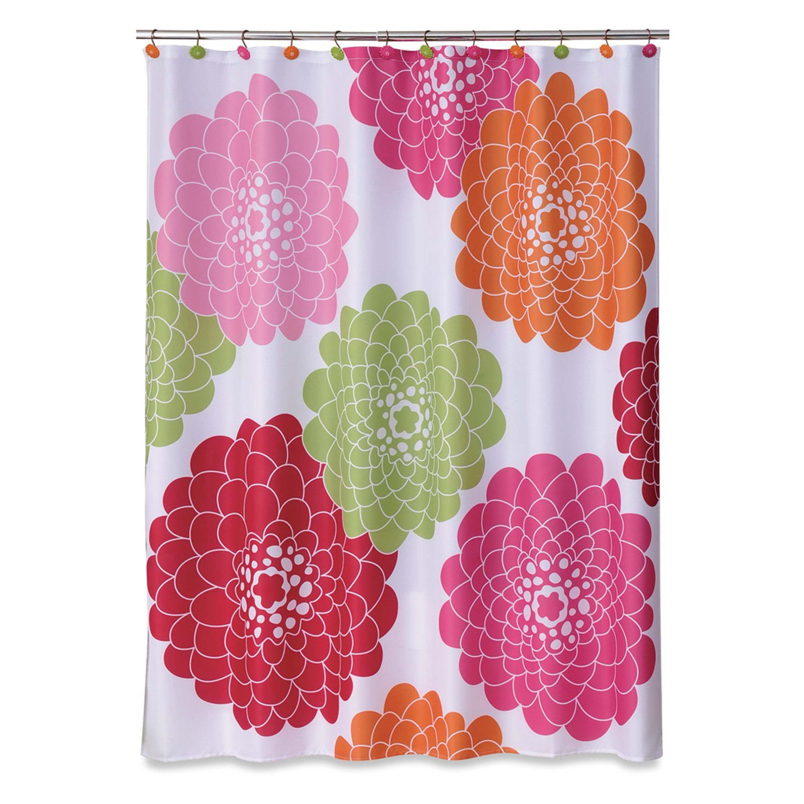 Allure Stella Shower Curtain Pink Shower Curtains Floral Shower