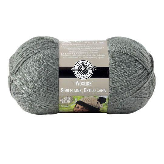 Loops & Thread Yarn, Woolike:  Charcoal, 85% acrylic, 15% nylon, 678 yds, Super Fine 1