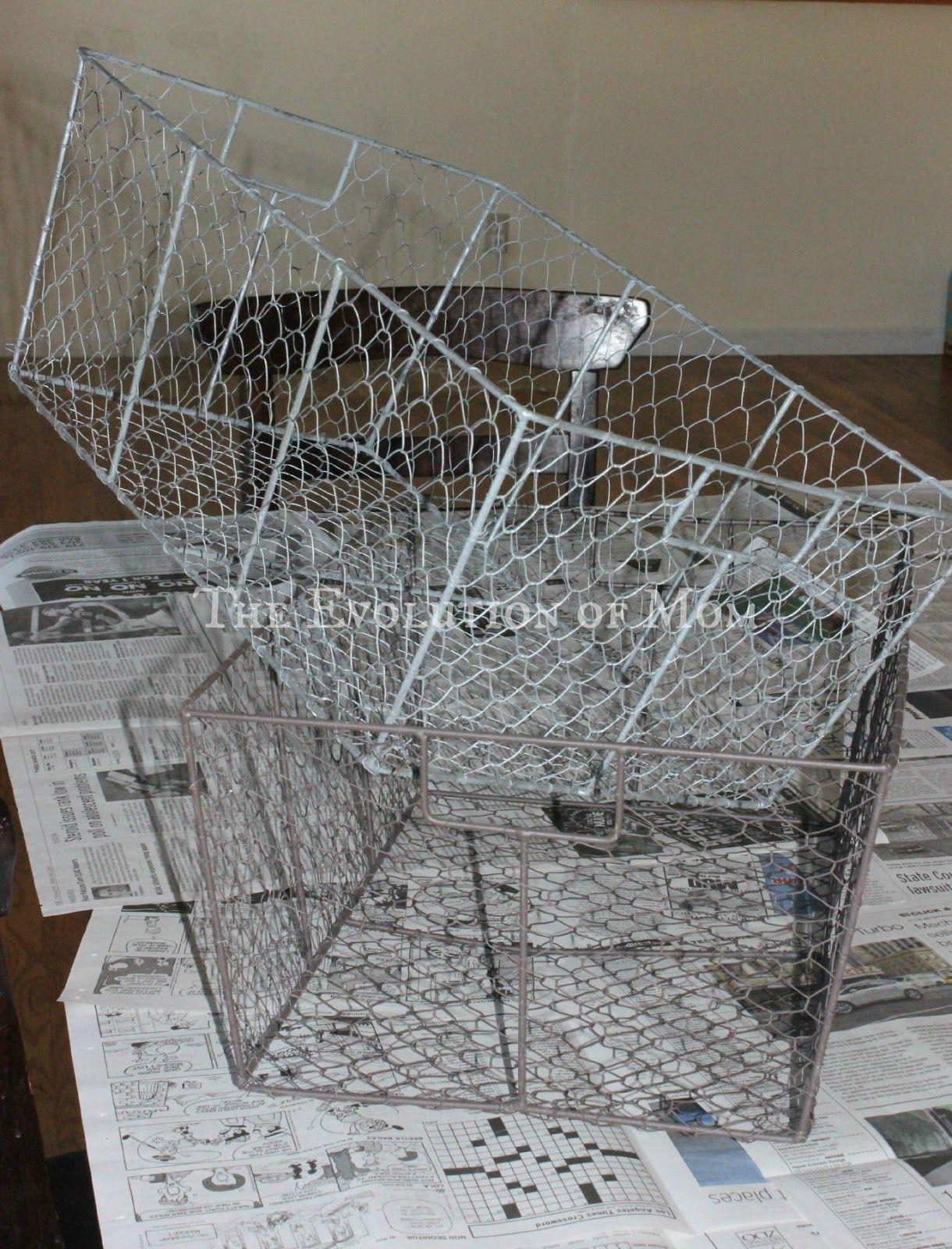 VIntage Wire Basket DIY   Wire basket DIY   Pinterest   Vintage wire ...