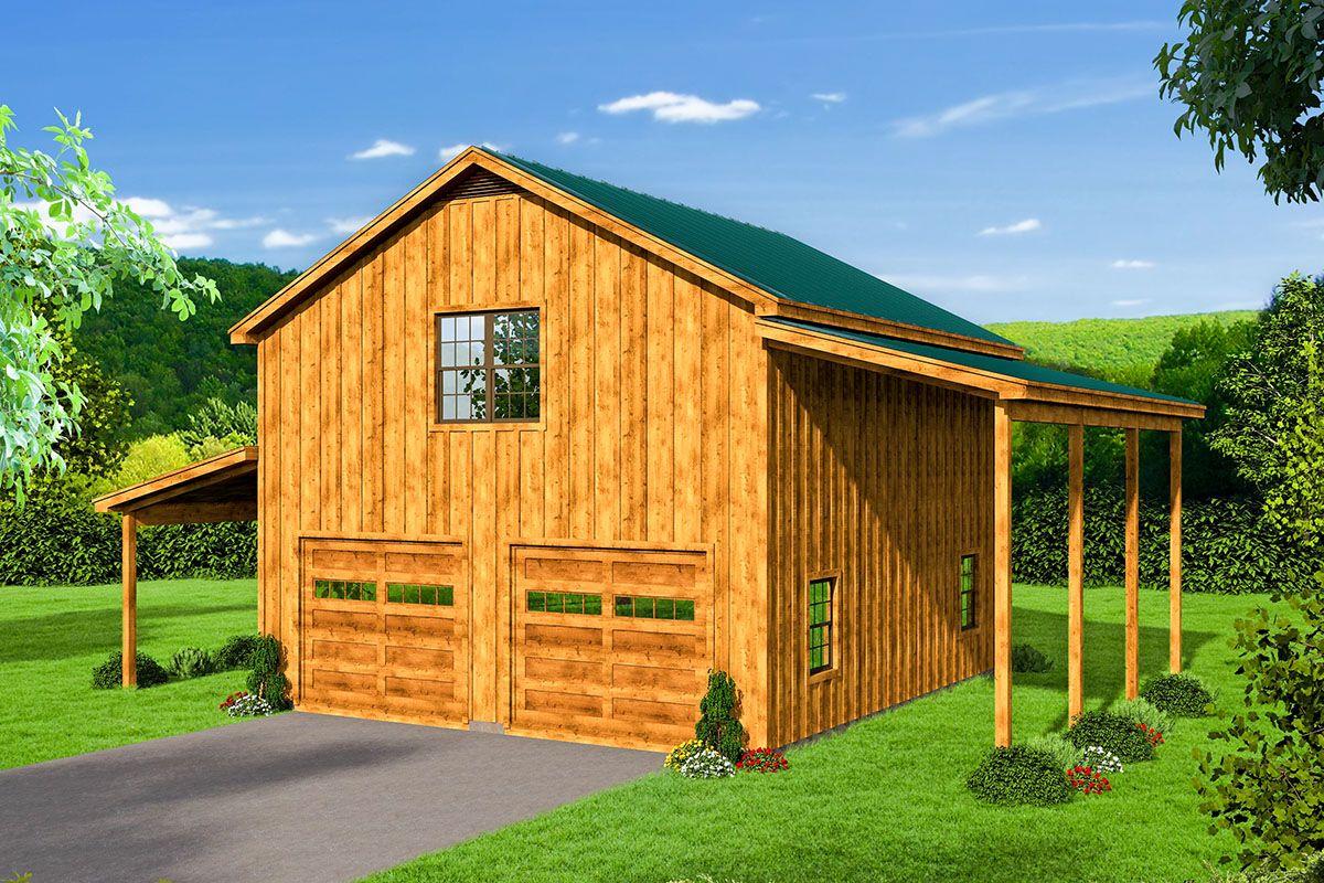 Plan 68597vr Detached Garage Plan With Rv Parking Garage Plans Detached Garage Plan Pool House Plans