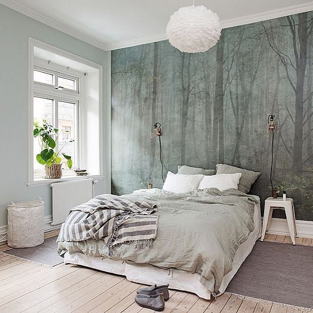 A gorgeous bedroom styled by @alvhem 👌🏻Good night ✨ . #bedroom ...