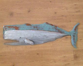 Salmon Metal Fish Wall Art Sculpture 24in By Sallenbachfishart