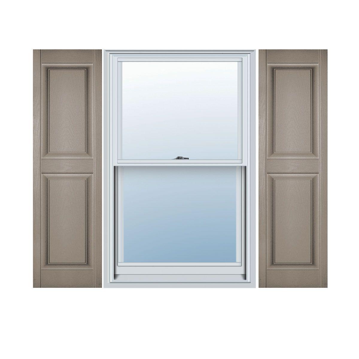 Traditional Premium Vinyl Raised Panel Custom Window Shutters W Installation Shutter Lok S Per Pair Raised Panel Shutters Builders Edge Louvered Shutters