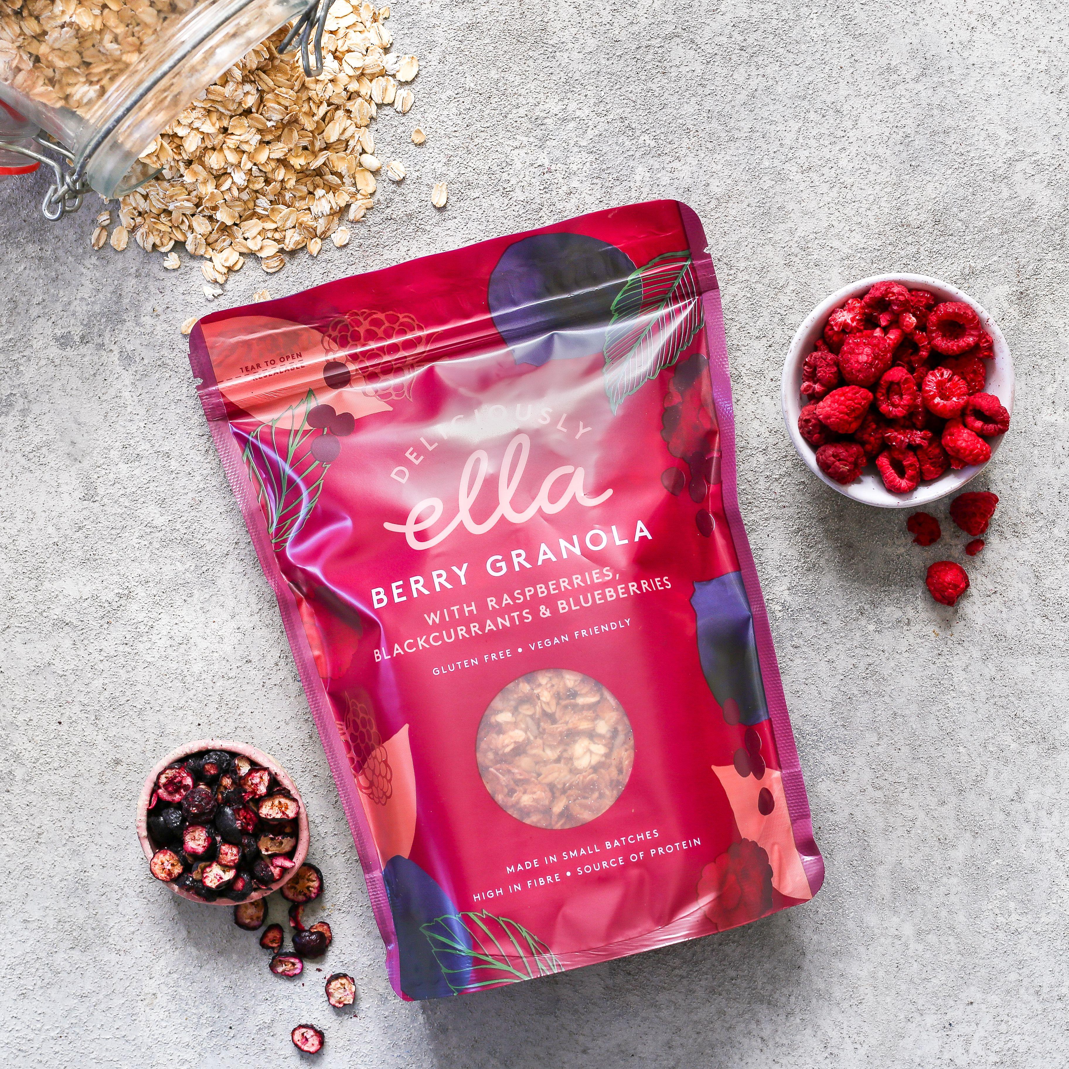 Berry Granola · Deliciously Ella   Granola, Gluten free oats, Berries