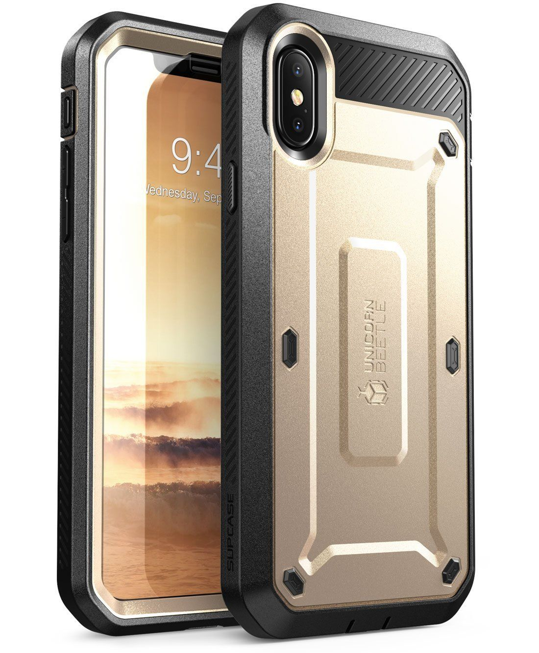 new arrivals 4f5bb 58faf iPhone X Case, SUPCASE Full-body Rugged Holster Case with Built-in ...