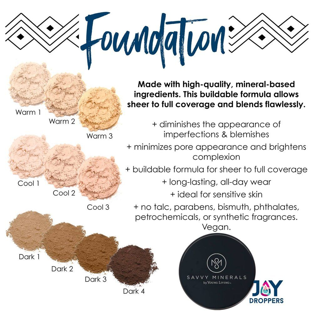Young Living Savvy Minerals Makeup Line All natural
