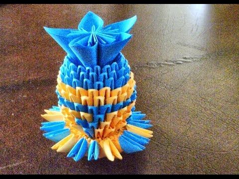 Origami 3d How To Make 3d Origami Vase Youtube