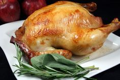 """Alton Brown's Brined Turkey: """"Hands down, the best turkey we've ever had! A saltwater brine allows the turkey to hold in tons of moisture and absorb the seasonings deep into the meat.""""- Food.com"""
