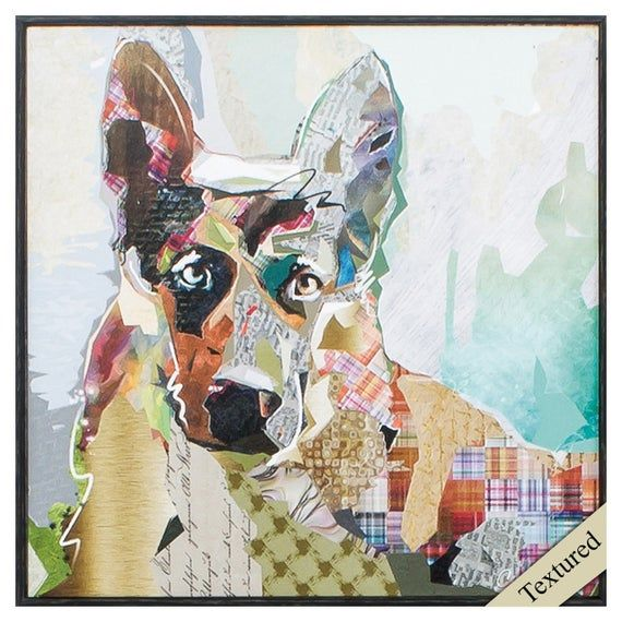 Gentle German Shepherd Print 12 X 12 Framed Etsy In 2020