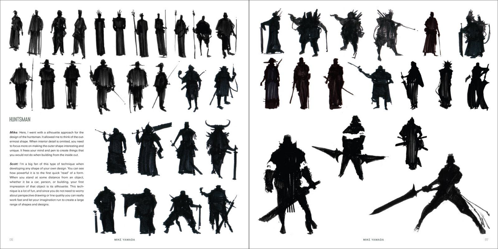 Character Design Silhouette : Character and creature design notes the use of