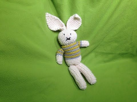 Amigurumi Loom Patterns : Loom knit how to make a stuffed bunny toy diy tutorial youtube