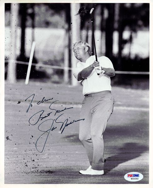 "Jack Nicklaus Autographed 8x10 Photo """"To Irene Best Wishes"""" Vintage PSA/DNA"