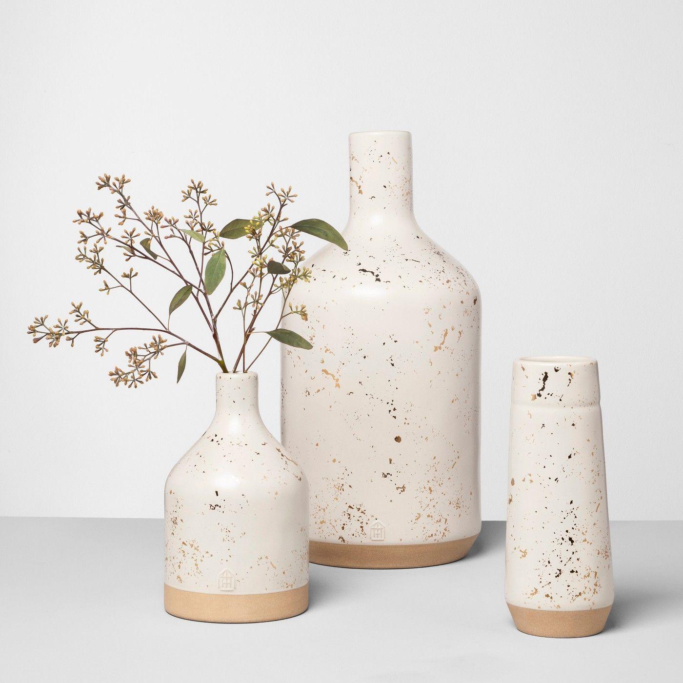 L Speckled Moss Vase