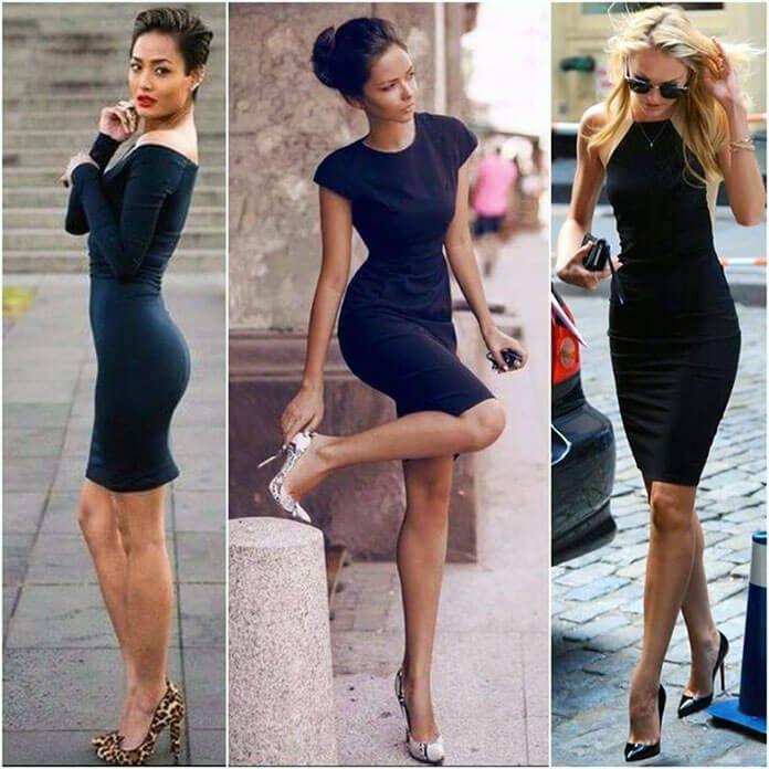 Crne Haljine Do Kolena Su Posebno Elegantne I Na Svoj