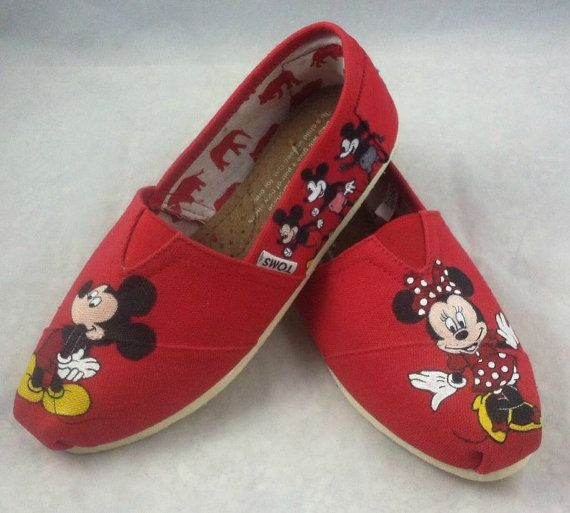 custom painted disney mickey mouse toms shoes