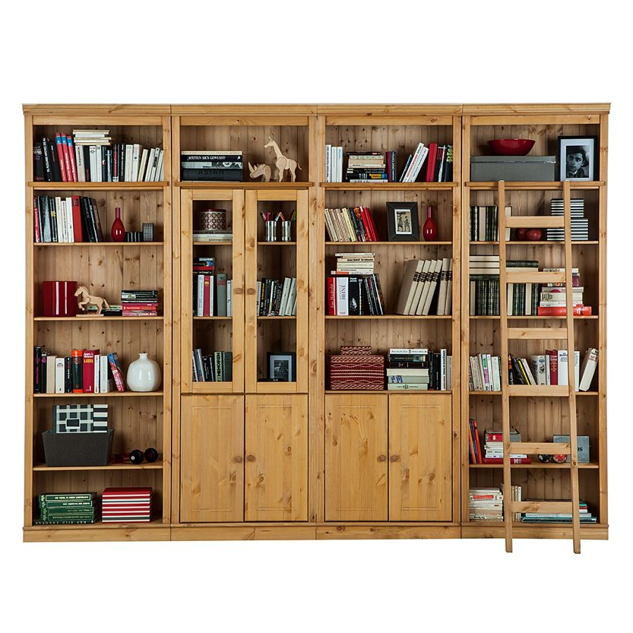 Armoire Murale Lillehammer Iii Pin Massif Teint Biblioth Que  # Authentic Style Pin Teinte Miel