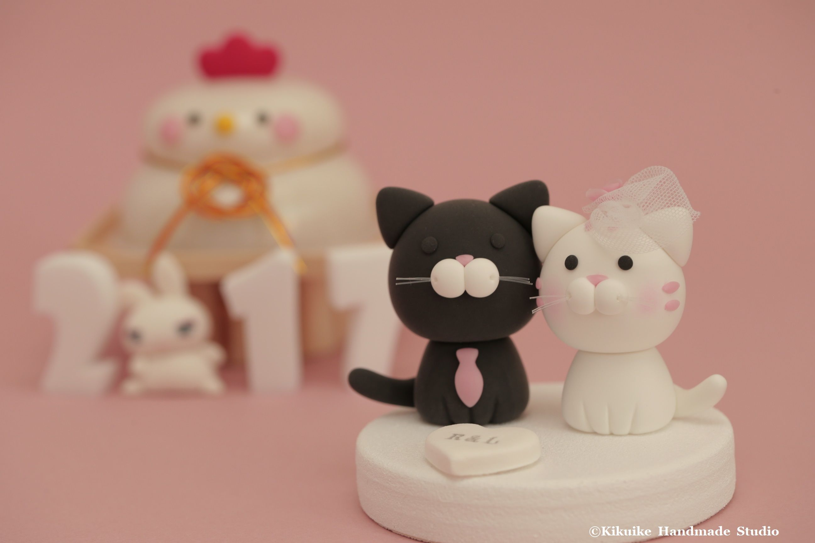 cat and kitty Wedding Cake Topper ---for the couple only---k825 ...