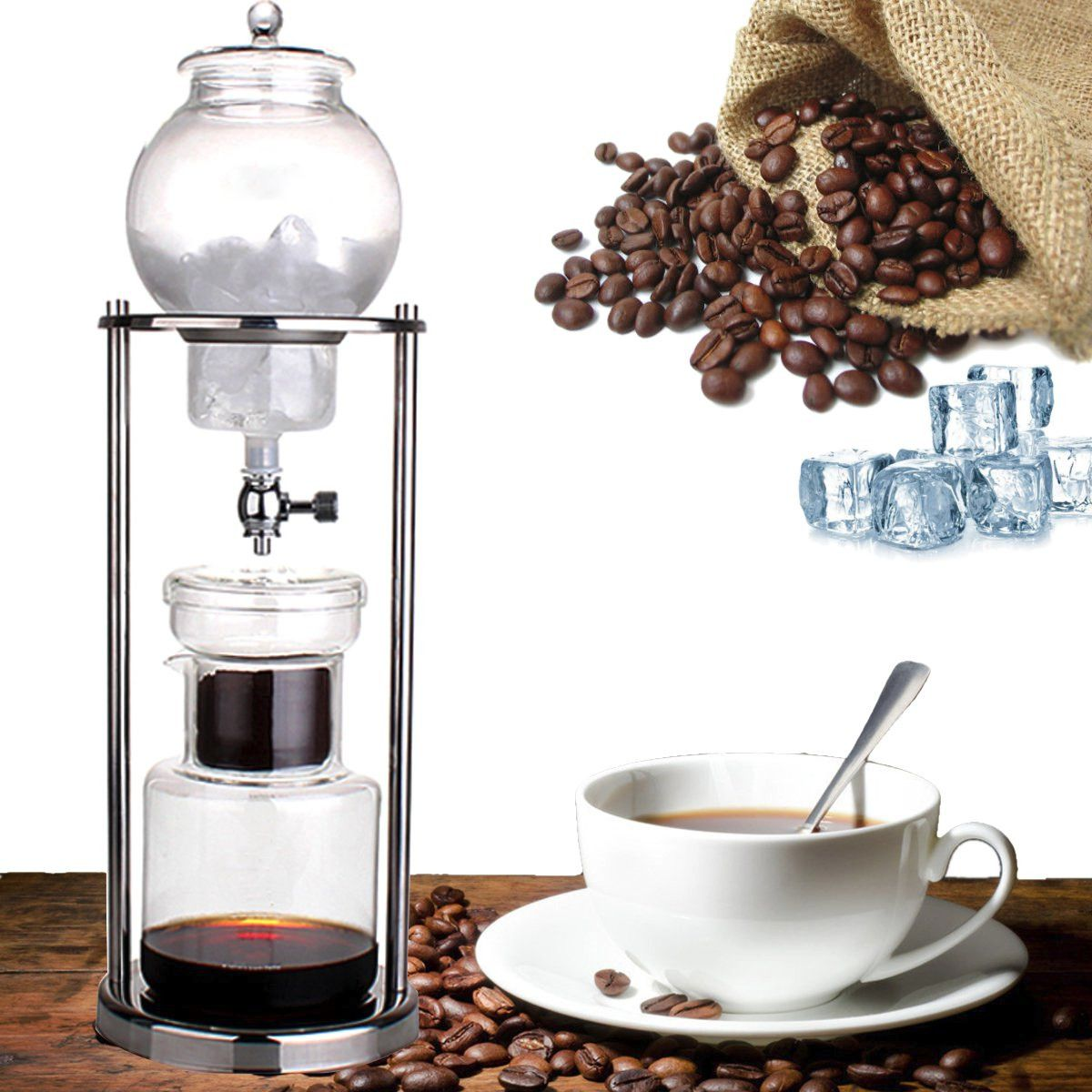 Dutch Coffee Cold Drip Water Drip Brew Coffee Maker Serve