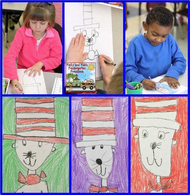 Kelly And Kim S Kindergarten Kreations Directed Drawing Kindergarten Cat In The Hat Directed Drawing Directed Drawing Preschool