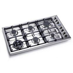 Large Cooktop 36 Inch Gas Drop In Cook Top 6 Burners Bertazzoni Db36 00 X