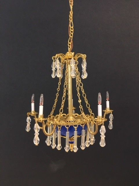 Dollhouse Miniature Handcrafted Crystal Chandelier Russian Style 1 12 12v