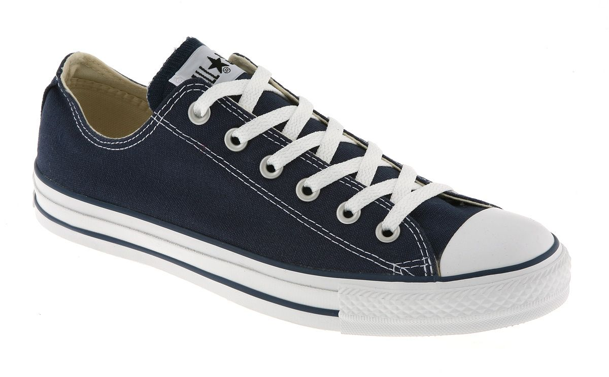 Converse All Star Low Navy Canvas - Unisex Sports. Navy ConverseConverse  All StarConverse TrainersTrainer ShoesShoe ...