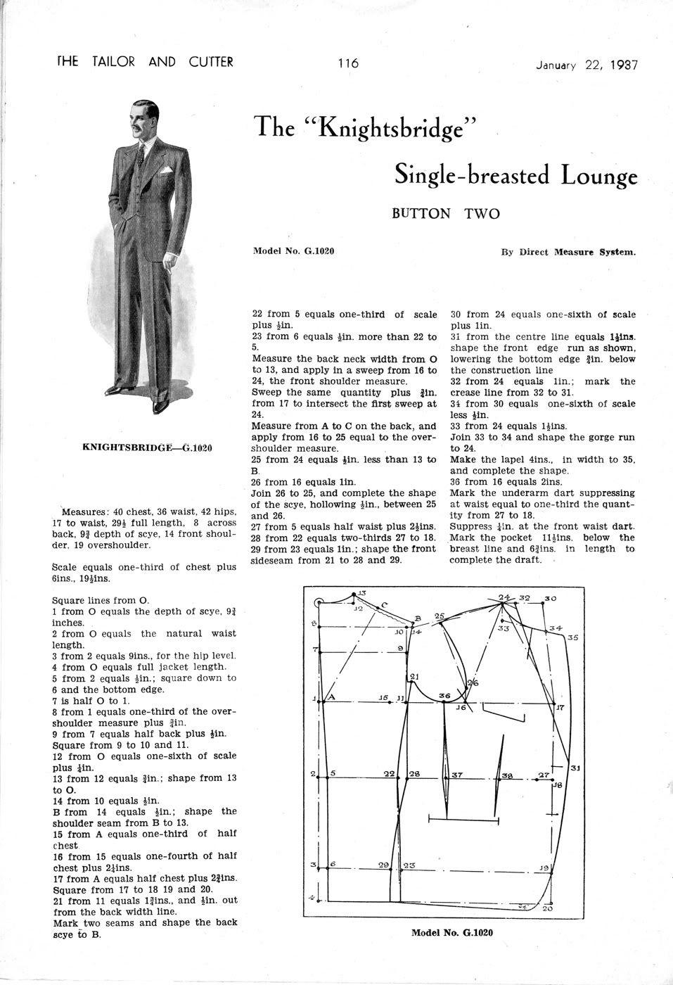 single-breasted lounge | foootoooo | Pinterest | Patrones y Trajes