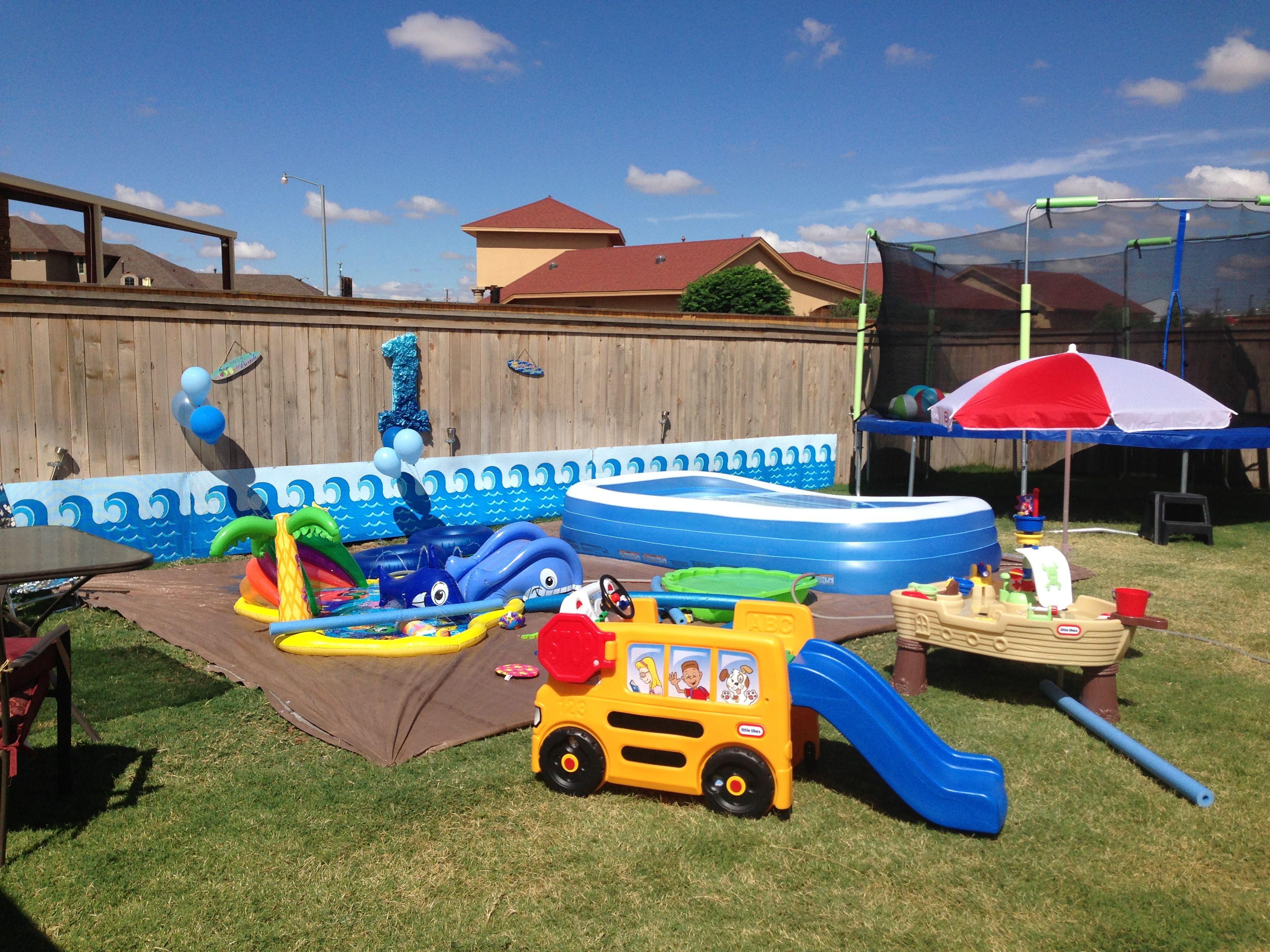 Water party | Water birthday parties, Backyard birthday ...