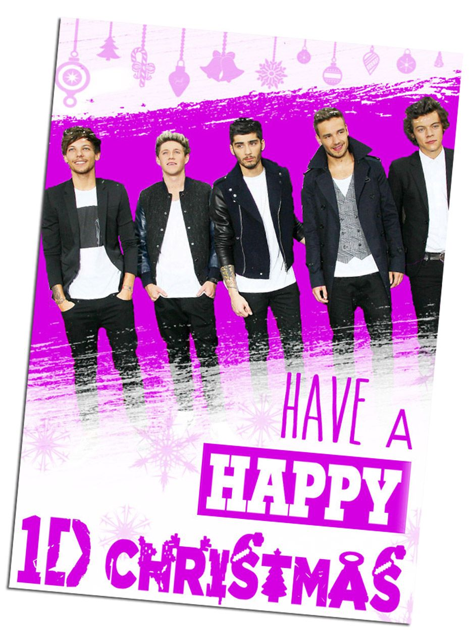 day three - one direction printable christmas cards - 1D advent ...